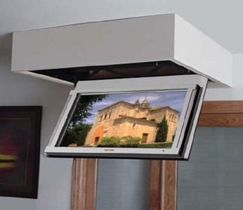 this is an exmaple of thetl200p series installed as a box beneath the ceiling it can also be concealed in the ceiling this lift has a maximum travel of